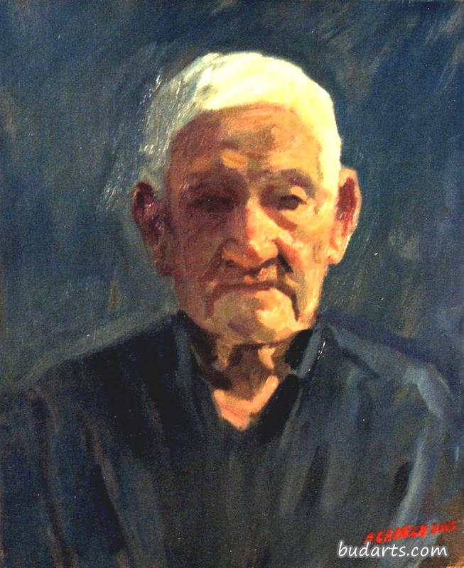 Portrait of old