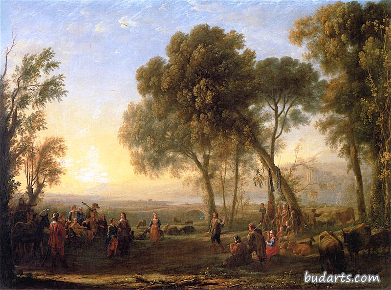 Landscape with Rural Dance