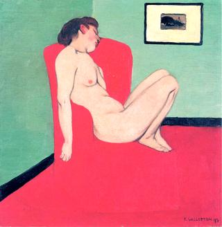 Nude Seated in a Red Armchair